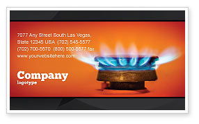 Gas Stove Business Card Template, 03675, Careers/Industry — PoweredTemplate.com