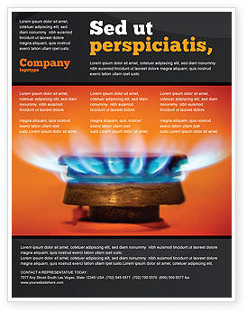 Careers/Industry: Gas Stove Flyer Template #03675