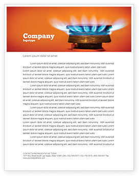 Gas Stove Letterhead Template, 03675, Careers/Industry — PoweredTemplate.com
