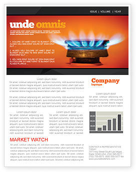 Gas Stove Newsletter Template