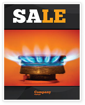 Gas Stove Sale Poster Template