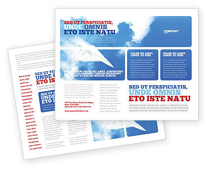 Paper Plane Brochure Template, 03676, Business Concepts — PoweredTemplate.com