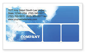 Paper Plane Business Card Template, 03676, Business Concepts — PoweredTemplate.com