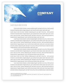 Business Concepts: Paper Plane Letterhead Template #03676