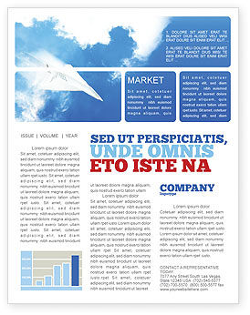 Business Concepts: Paper Plane Newsletter Template #03676