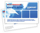 Business Concepts: Paper Plane Postcard Template #03676