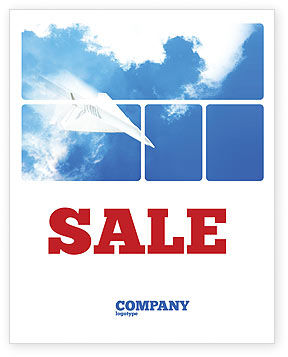 Business Concepts: Paper Plane Sale Poster Template #03676
