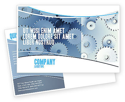 Details Postcard Template, 03677, Business Concepts — PoweredTemplate.com