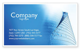 Construction: Office Center Business Card Template #03678