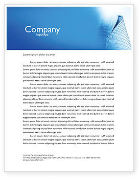 Construction: Office Center Letterhead Template #03678