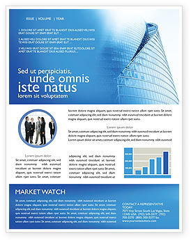 Construction: Office Center Newsletter Template #03678