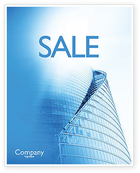 Office Center Sale Poster Template, 03678, Construction — PoweredTemplate.com