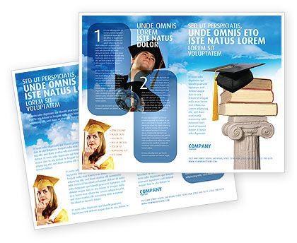 University education brochure template design and layout for Educational brochure templates
