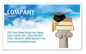 Education & Training: University Education Business Card Template #03680
