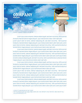 University Education Letterhead Template, 03680, Education & Training — PoweredTemplate.com