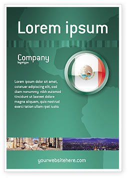 Flags/International: Mexico Advertentie Template #03681