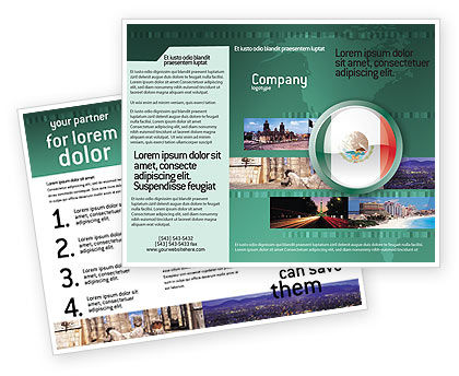 Flags/International: Mexico Brochure Template #03681