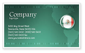 Flags/International: Mexico Business Card Template #03681