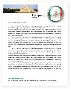 Flags/International: Mexico Letterhead Template #03681