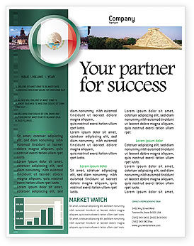 Flags/International: Mexico Newsletter Template #03681