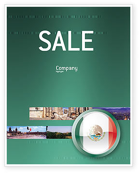 Flags/International: Mexico Sale Poster Template #03681