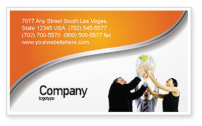 Business Concepts: Global Partnership Business Card Template #03682