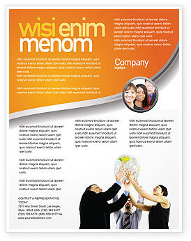 Business Concepts: Modèle de Flyer de partenariat global #03682