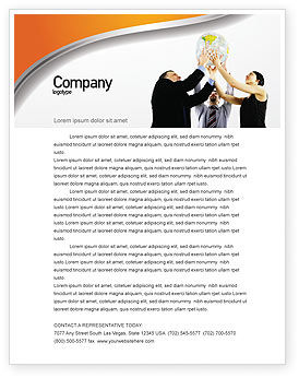 Business Concepts: Global Partnership Letterhead Template #03682