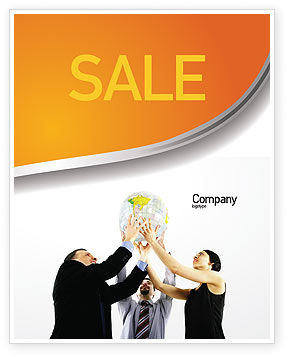 Global Partnership Sale Poster Template, 03682, Business Concepts — PoweredTemplate.com