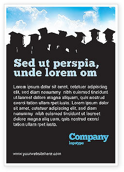 Graduates Ad Template, 03685, Education & Training — PoweredTemplate.com
