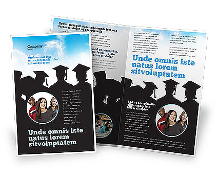 Graduates Brochure Template, 03685, Education & Training — PoweredTemplate.com