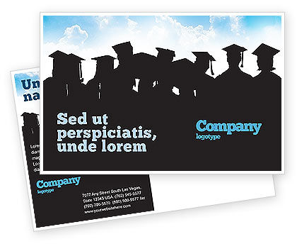 Graduates Postcard Template, 03685, Education & Training — PoweredTemplate.com