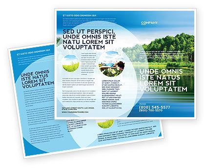 Landscape Brochure Template, 03688, Nature & Environment — PoweredTemplate.com