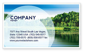 Nature & Environment: Landscape Business Card Template #03688