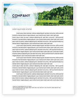 Nature & Environment: Landscape Letterhead Template #03688