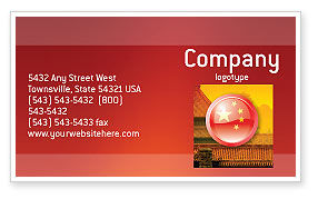 Flag of China Business Card Template