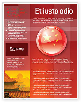 Flags/International: Flag of China Flyer Template #03690