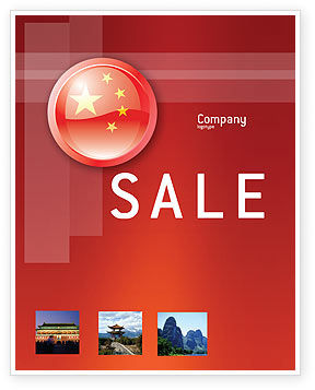 Flag of China Sale Poster Template, 03690, Flags/International — PoweredTemplate.com