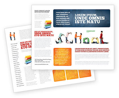 School Word Brochure Template, 03693, Education & Training — PoweredTemplate.com