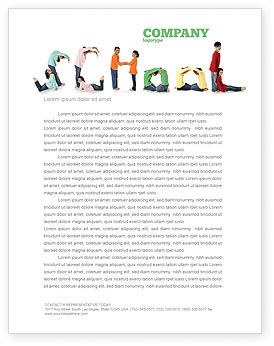School Word Letterhead Template, 03693, Education & Training — PoweredTemplate.com