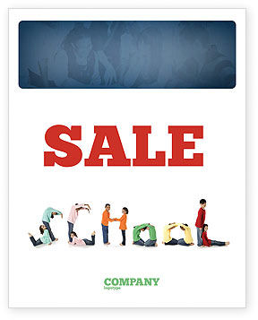 Education & Training: School Word Sale Poster Template #03693