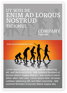 Education & Training: Human Evolution Ad Template #03694