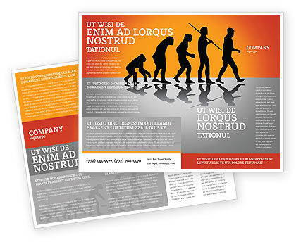 Human Evolution Brochure Template, 03694, Education & Training — PoweredTemplate.com