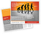Education & Training: Human Evolution Brochure Template #03694