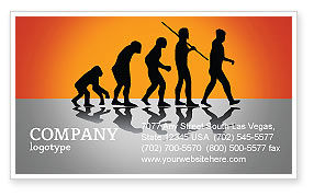 Human Evolution Business Card Template, 03694, Education & Training — PoweredTemplate.com