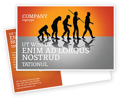 Education & Training: Human Evolution Postcard Template #03694