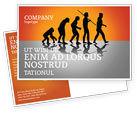 Education & Training: Human Evolution Postcard Template #03694