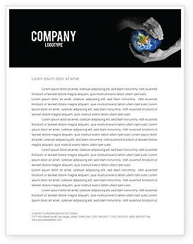 Protect the World Letterhead Template, 03695, Global — PoweredTemplate.com