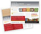 Education & Training: Modèle de Brochure de enseignement #03696