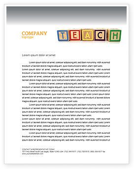 Teaching Letterhead Template, 03696, Education & Training — PoweredTemplate.com